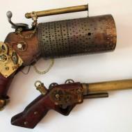 Armes et instruments rétrofuturistes : steamguns