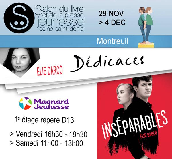 affiche dedicace montreuil2017 - Salon du livre et de la presse jeunesse 2017 à Montreuil