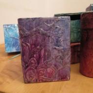 boite romantique noel2015 190x190 - Cartonnage, media mixtes pour boîtes et carnets de Noël