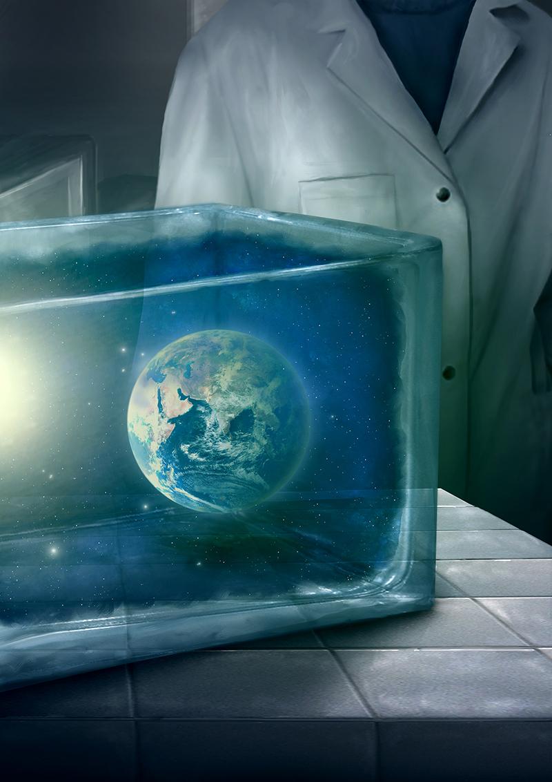 planete en bocal
